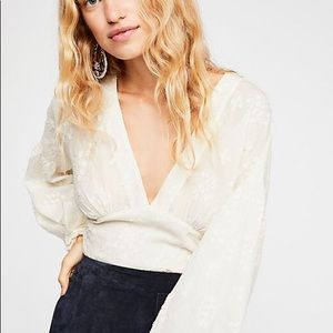 Free People Garden of Lilies top